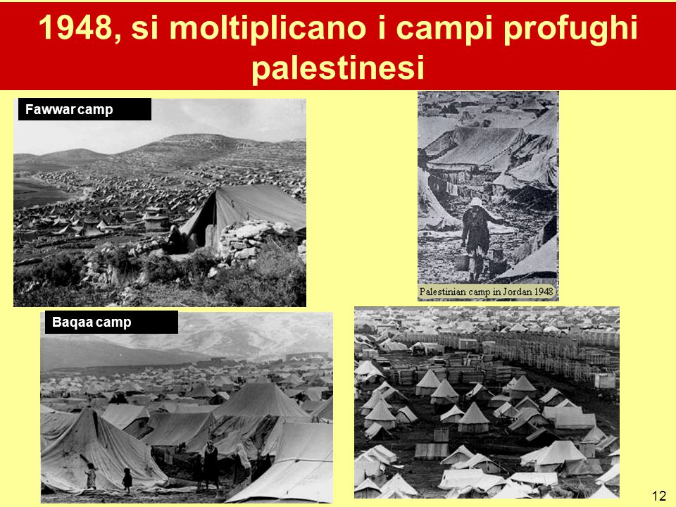 1948, si moltiplicano i campi profughi palestinesi