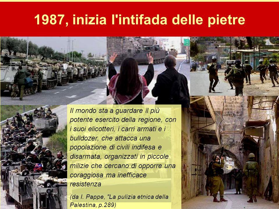 1987, inizia l intifada delle pietre