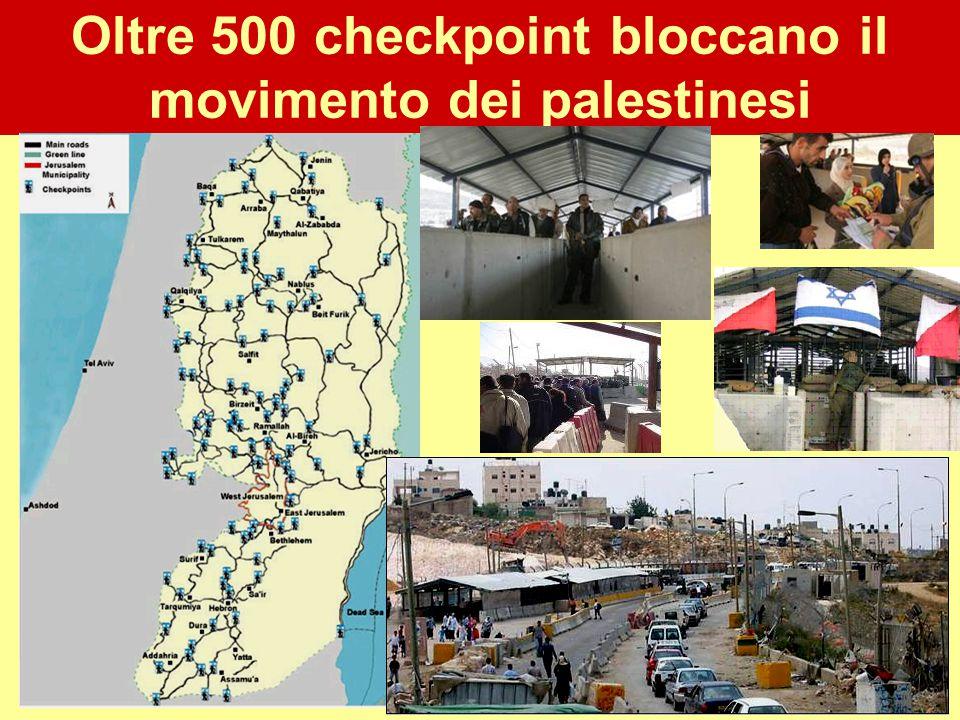 Oltre 500 checkpoint bloccano il movimento dei palestinesi