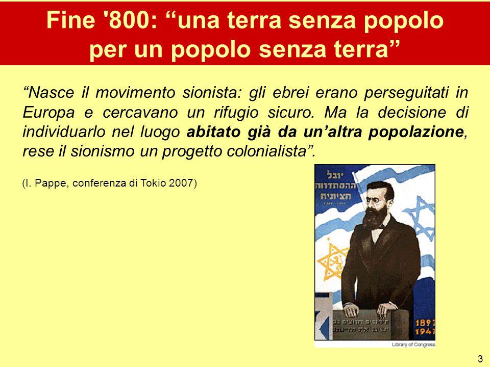 Fine 800: una terra senza popolo per un popolo senza terra