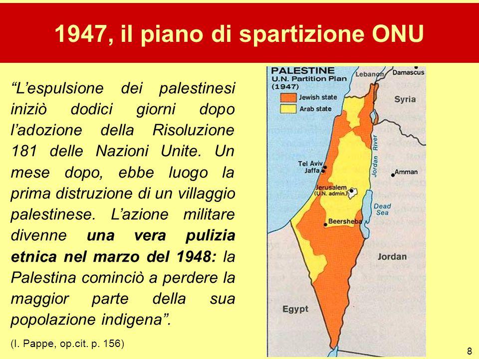 1947, il piano di spartizione ONU
