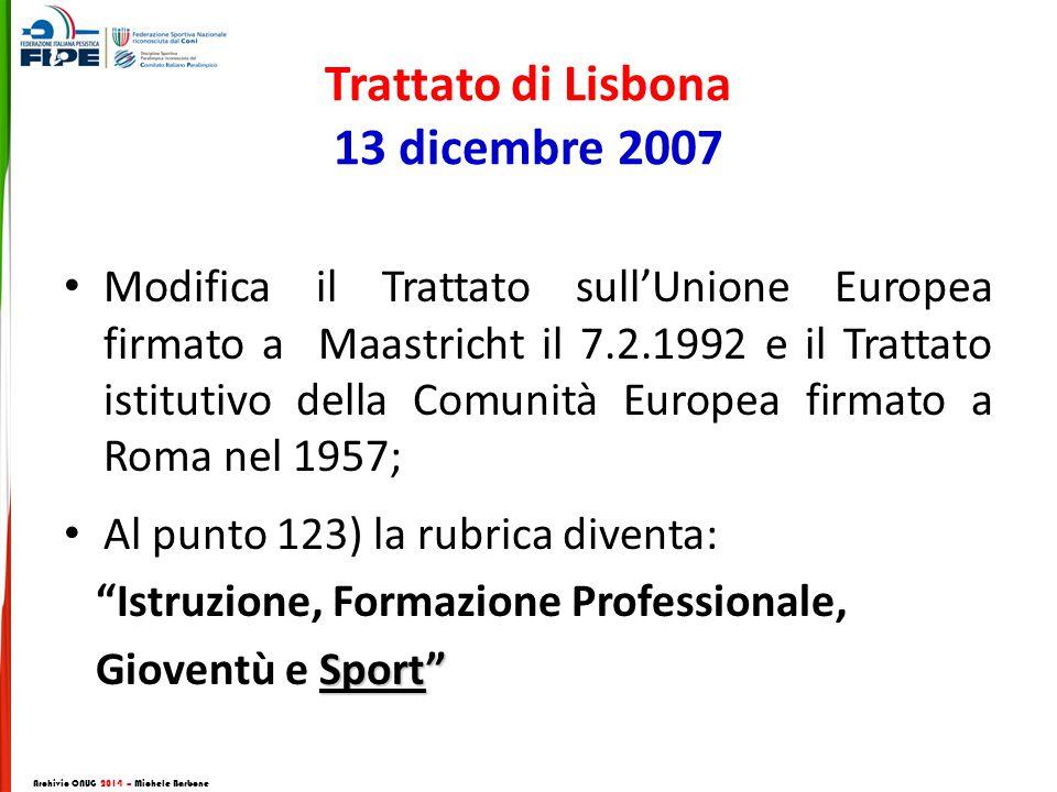 Trattato di Lisbona 13 dicembre 2007