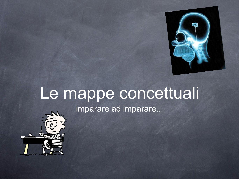 Le mappe concettuali imparare ad imparare...