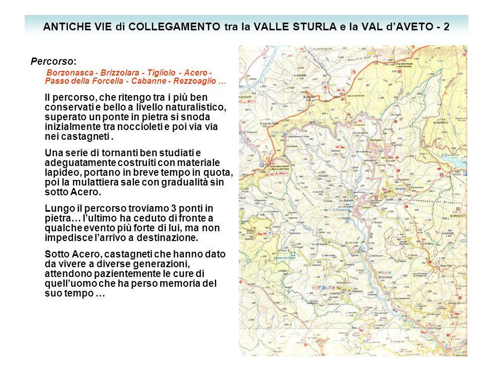 ANTICHE VIE di COLLEGAMENTO tra la VALLE STURLA e la VAL d'AVETO - 2