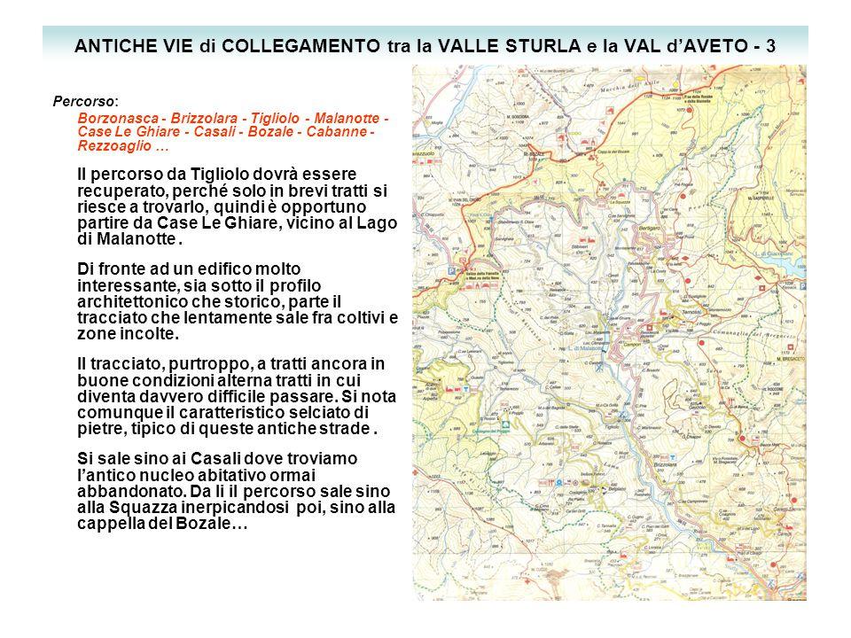 ANTICHE VIE di COLLEGAMENTO tra la VALLE STURLA e la VAL d'AVETO - 3