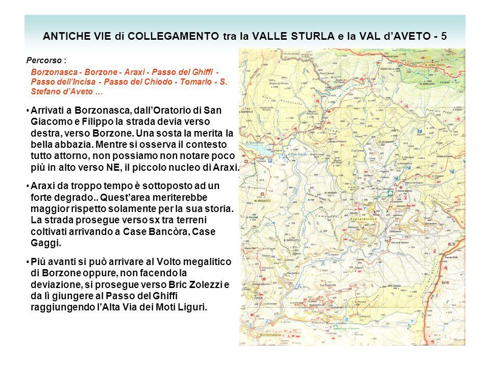 ANTICHE VIE di COLLEGAMENTO tra la VALLE STURLA e la VAL d'AVETO - 5