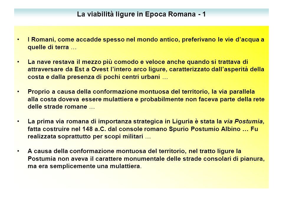 La viabilità ligure in Epoca Romana - 1
