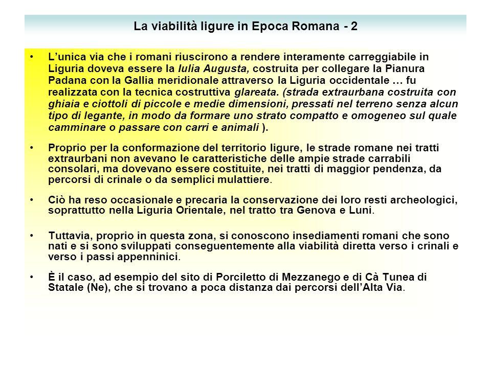 La viabilità ligure in Epoca Romana - 2