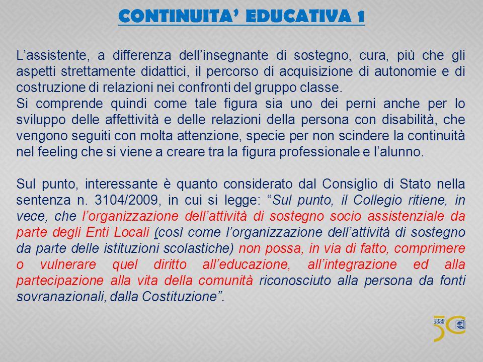 CONTINUITA' EDUCATIVA 1
