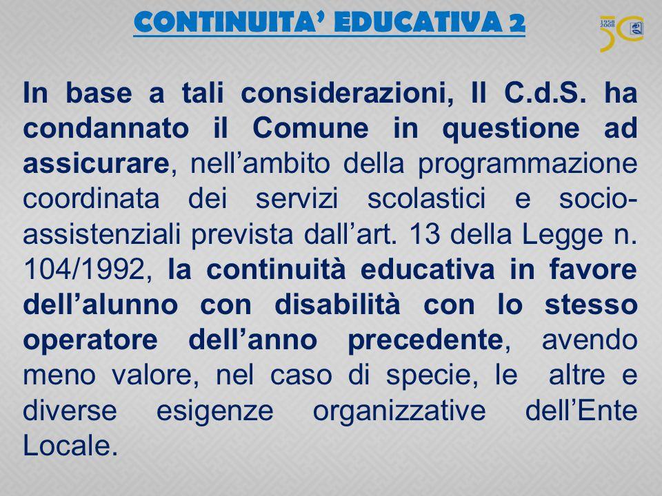CONTINUITA' EDUCATIVA 2