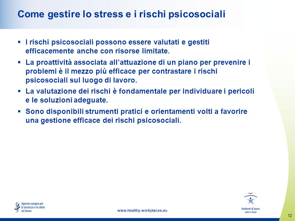 Come gestire lo stress e i rischi psicosociali