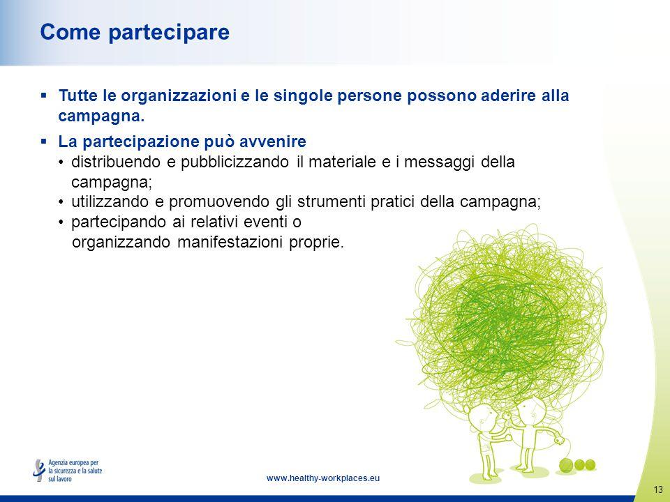 Come partecipare Tutte le organizzazioni e le singole persone possono aderire alla campagna. La partecipazione può avvenire.