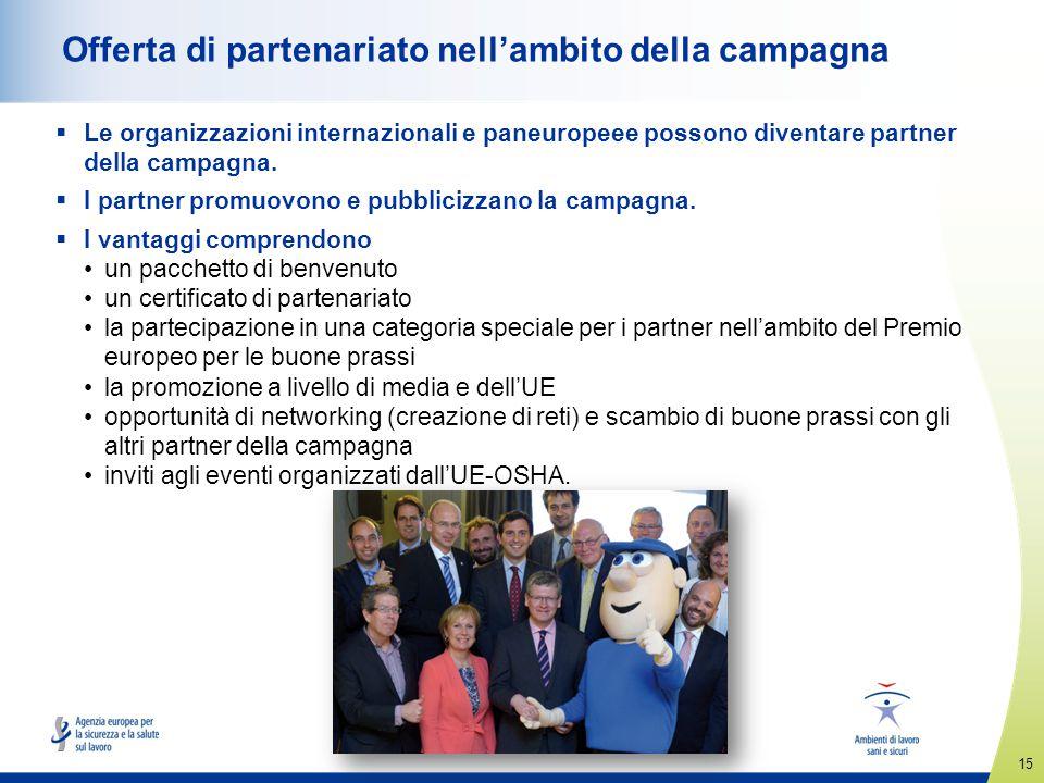 Offerta di partenariato nell'ambito della campagna