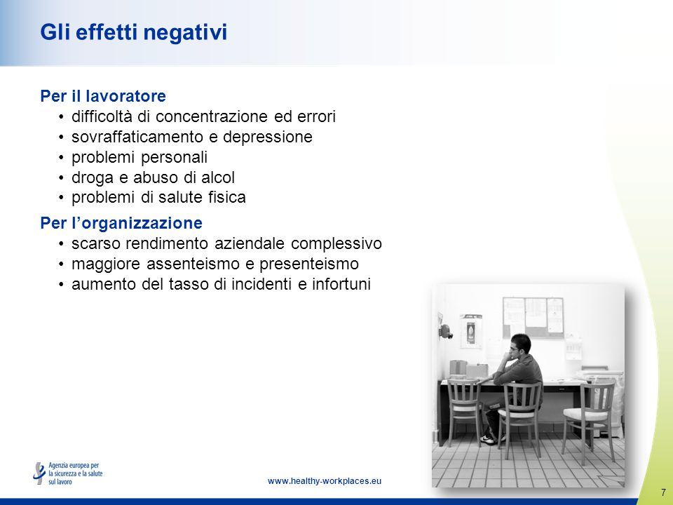 Gli effetti negativi Per il lavoratore