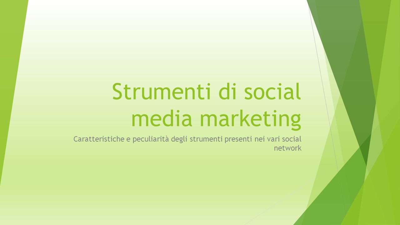Strumenti di social media marketing