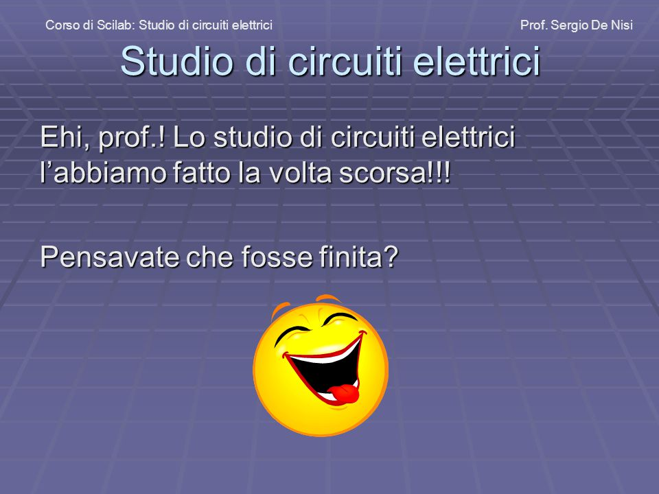 Studio di circuiti elettrici