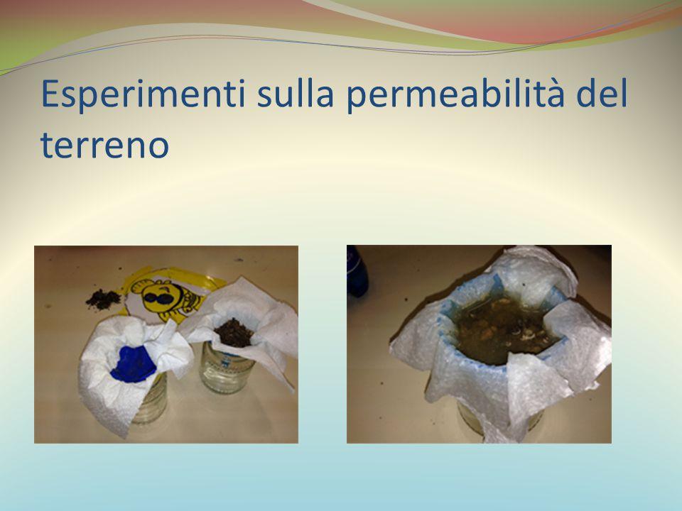 Esperimenti sulla permeabilità del terreno