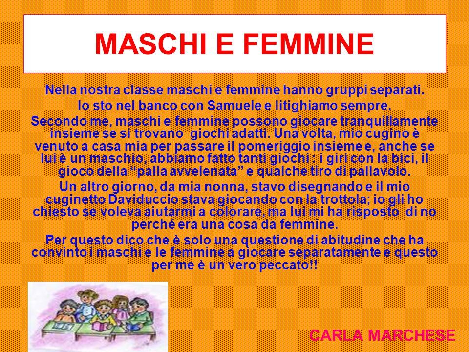 MASCHI E FEMMINE CARLA MARCHESE