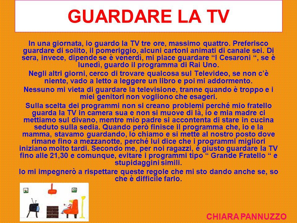 GUARDARE LA TV CHIARA PANNUZZO