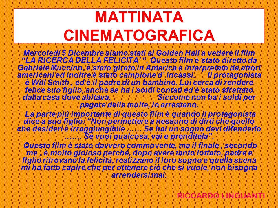 MATTINATA CINEMATOGRAFICA
