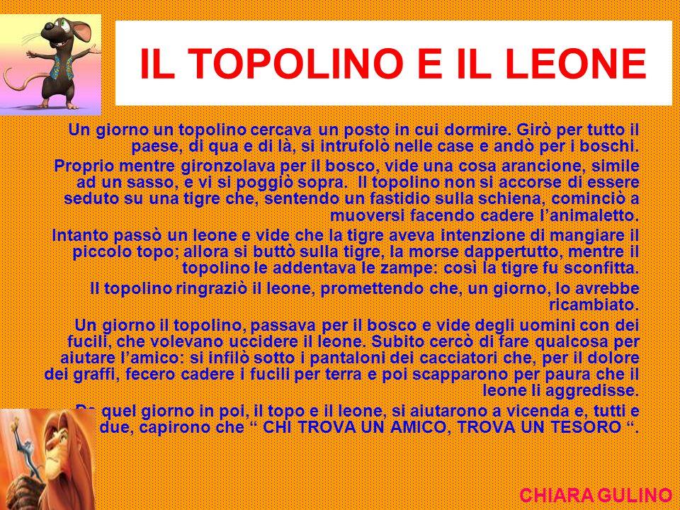 IL TOPOLINO E IL LEONE CHIARA GULINO