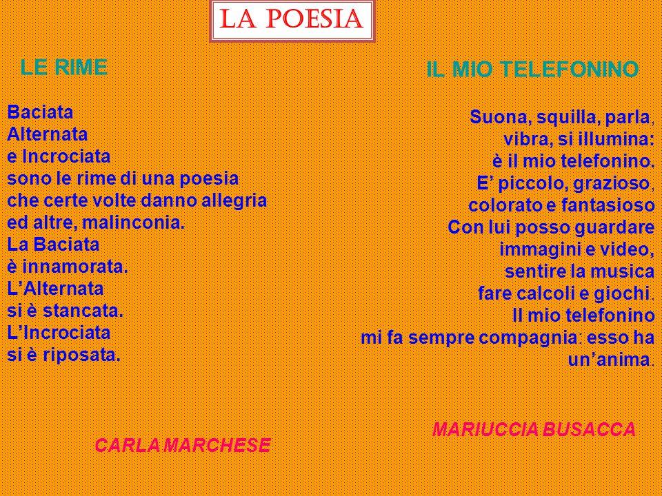La poesia LE RIME IL MIO TELEFONINO Baciata Suona, squilla, parla,