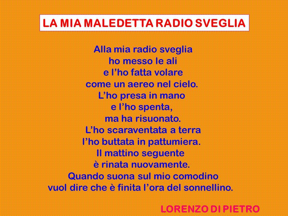 LA MIA MALEDETTA RADIO SVEGLIA