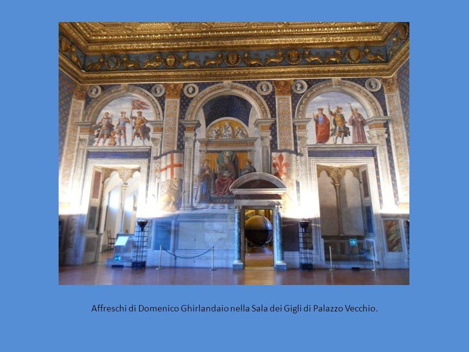 Affreschi di Domenico Ghirlandaio nella Sala dei Gigli di Palazzo Vecchio.