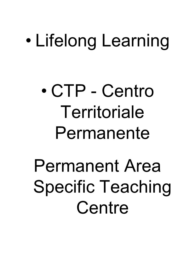 CTP - Centro Territoriale Permanente