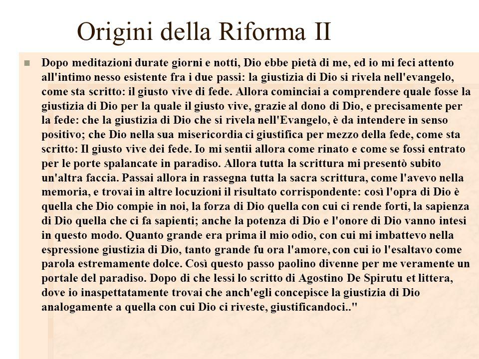 Origini della Riforma II