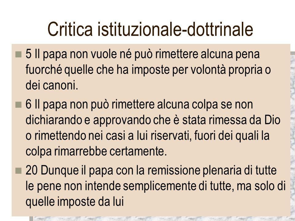 Critica istituzionale-dottrinale