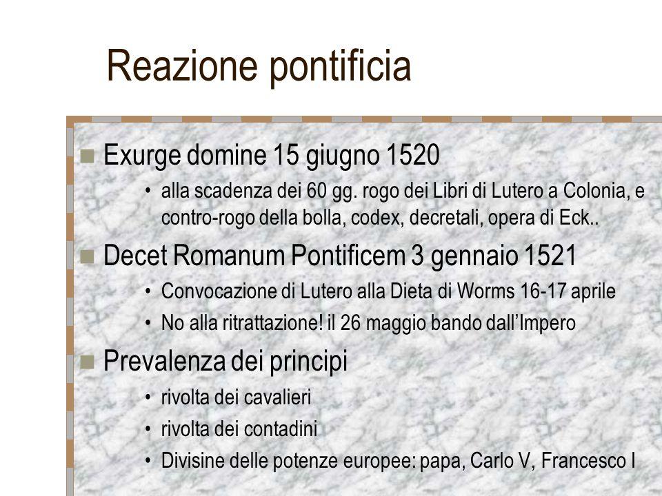 Reazione pontificia Exurge domine 15 giugno 1520