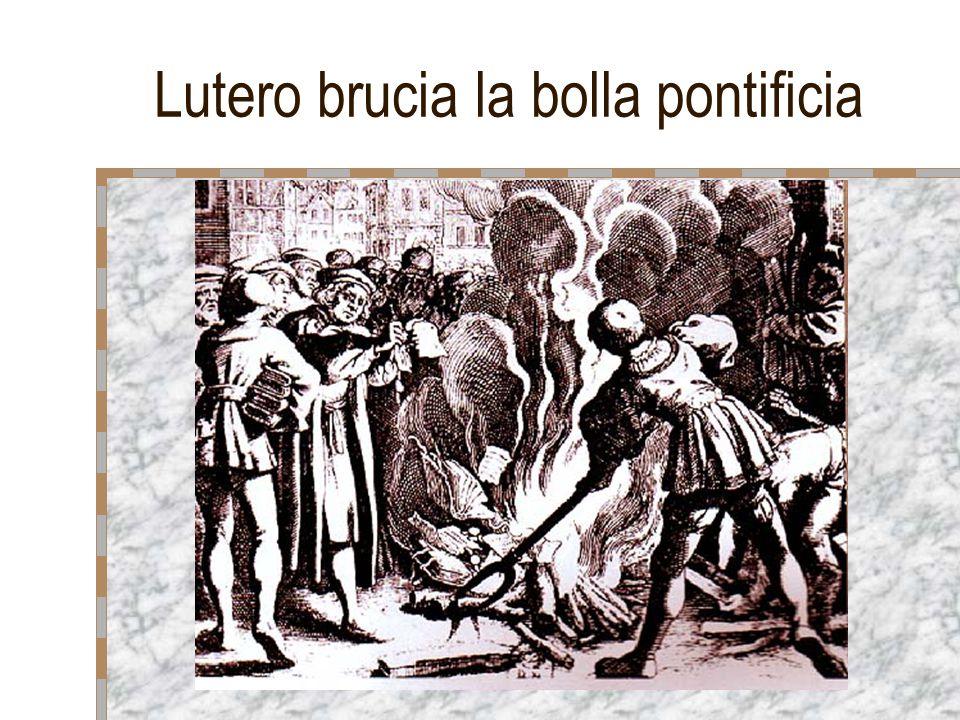 Lutero brucia la bolla pontificia
