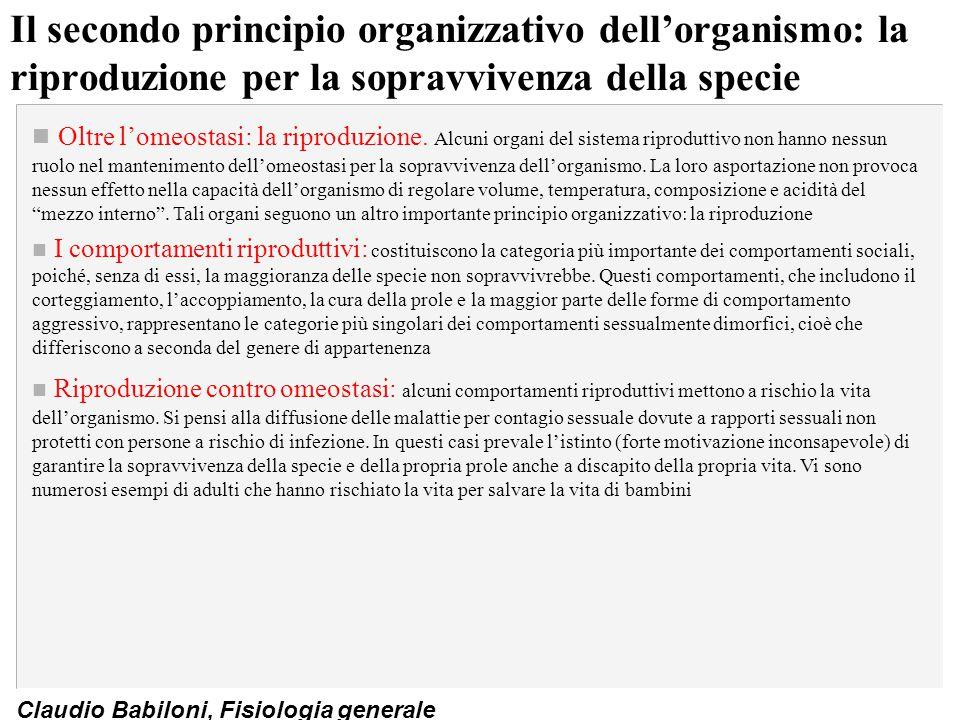 Il secondo principio organizzativo dell'organismo: la riproduzione per la sopravvivenza della specie