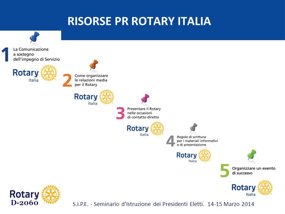 RISORSE PR ROTARY ITALIA