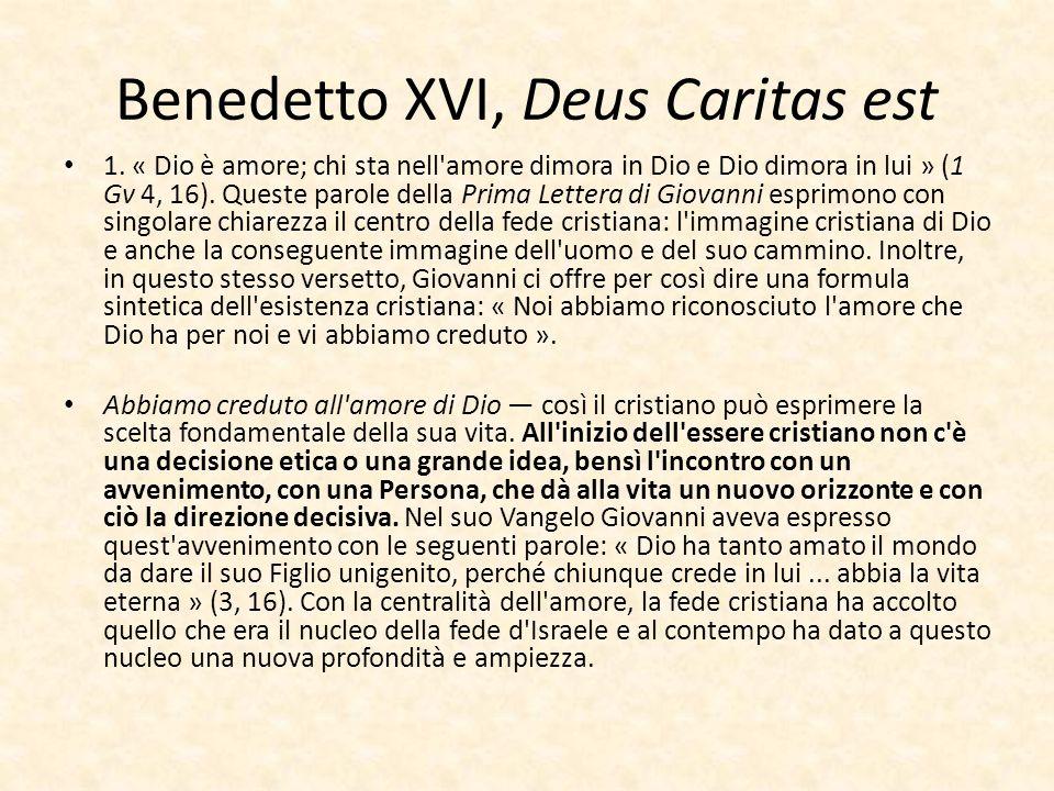 Benedetto XVI, Deus Caritas est