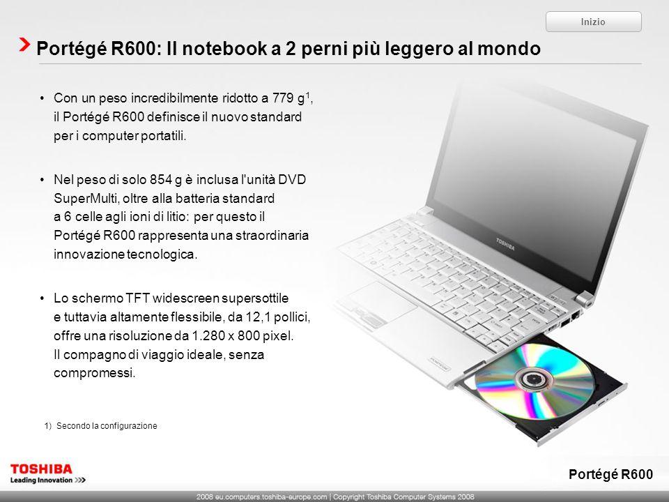 Portégé R600: Il notebook a 2 perni più leggero al mondo
