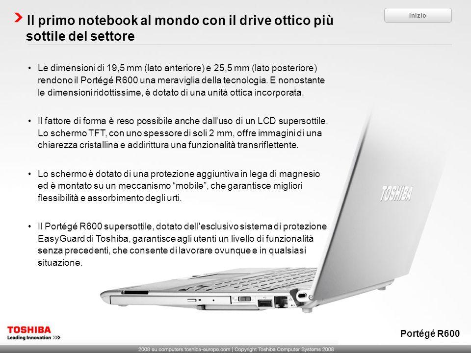 Il primo notebook al mondo con il drive ottico più sottile del settore