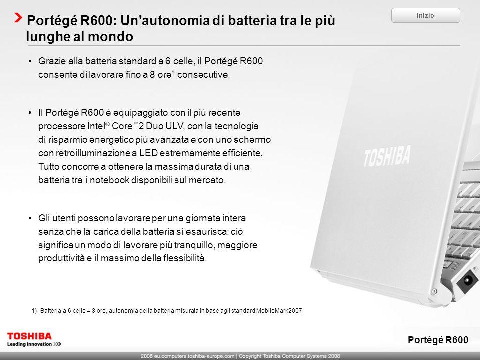 Portégé R600: Un autonomia di batteria tra le più lunghe al mondo
