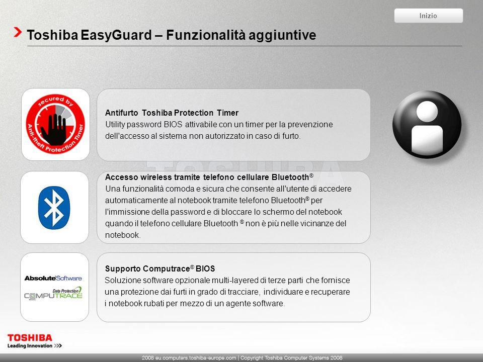 Toshiba EasyGuard – Funzionalità aggiuntive