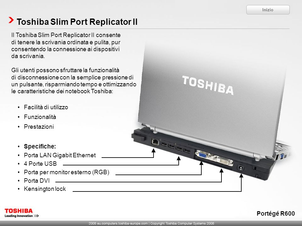 Toshiba Slim Port Replicator II