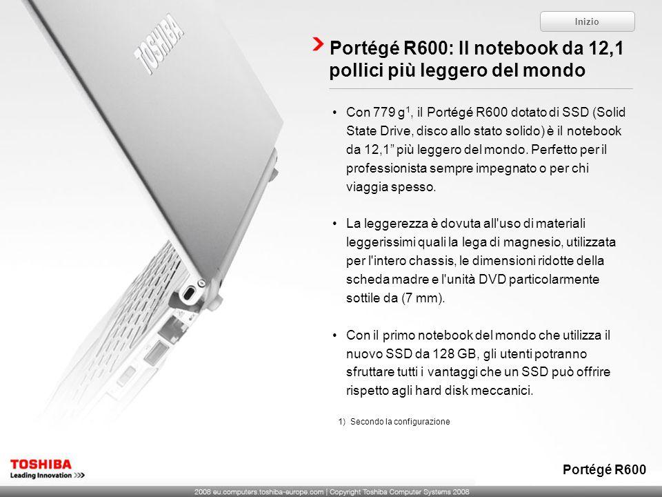 Portégé R600: Il notebook da 12,1 pollici più leggero del mondo