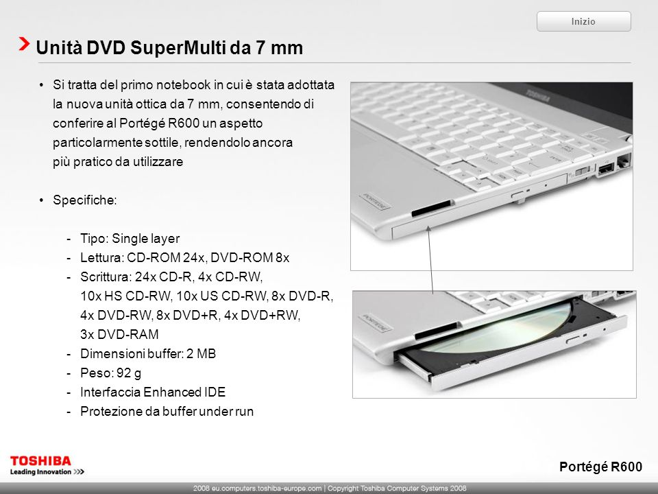 Unità DVD SuperMulti da 7 mm
