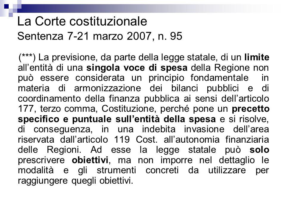La Corte costituzionale Sentenza 7-21 marzo 2007, n. 95