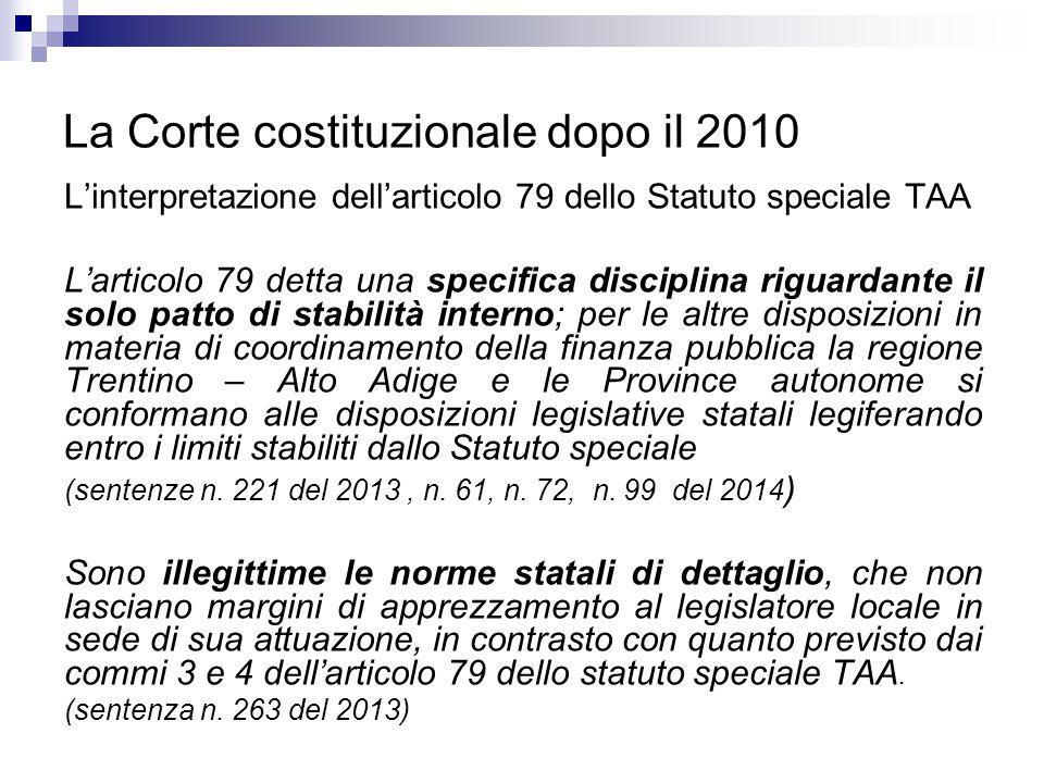 La Corte costituzionale dopo il 2010