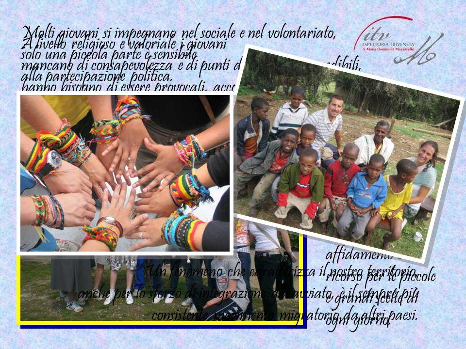 Molti giovani si impegnano nel sociale e nel volontariato,