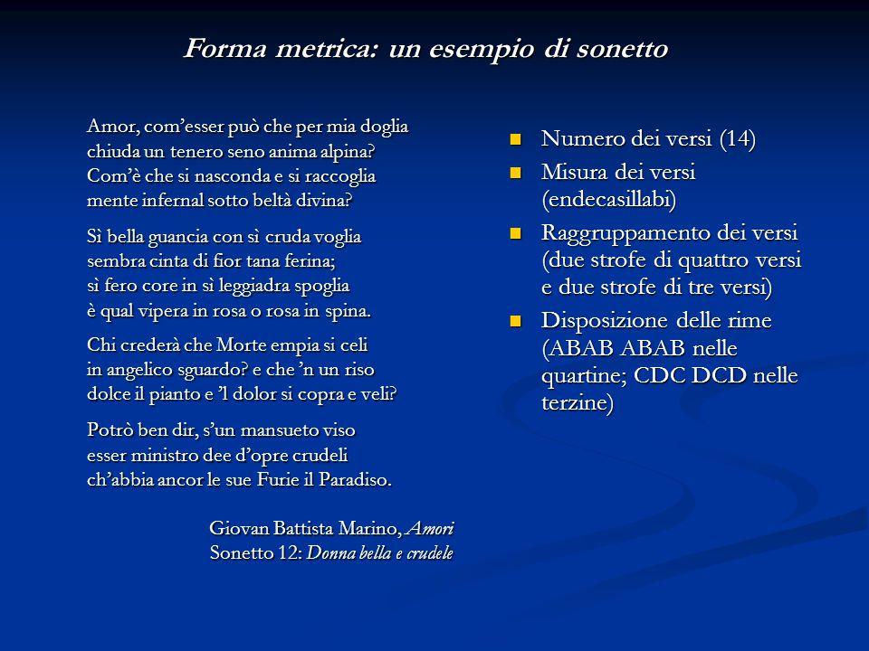 Forma metrica: un esempio di sonetto