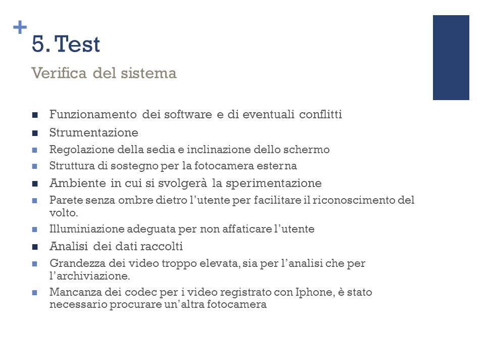 5. Test Verifica del sistema