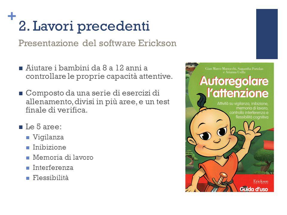 2. Lavori precedenti Presentazione del software Erickson