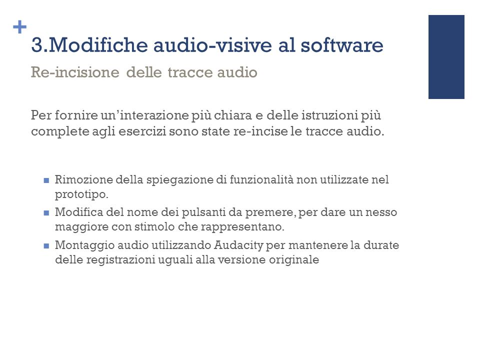 3.Modifiche audio-visive al software